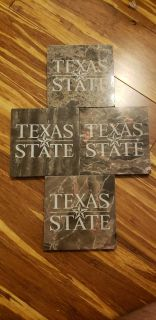 Texas State Coasters Marble and Heavy