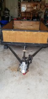 4 by 6 utility trailer new wood lights work new axle good tires