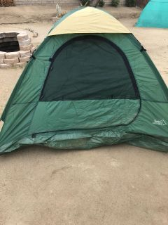 Textsport 3 Person Backpacking Camping Tent with Carry Storage Bag