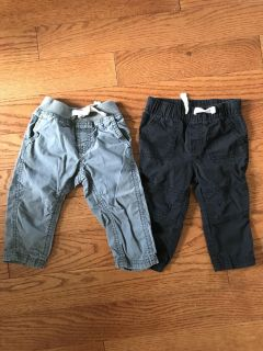 Lot of 2 size 12 month pants