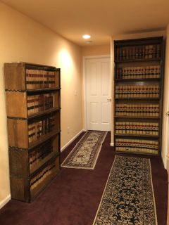 3 Lawyer Law Bookshelves / Bookcase Antique, The Globe - Wernicke Co