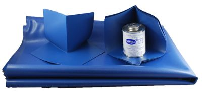 Shower Pan Liner KIT 20 sq - Blue Vinyl Shower Pan Membrane