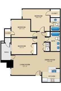 3 bedrooms - At Windhaven Park Apartment Homes.