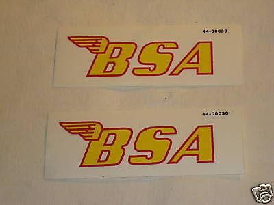 Sell BSA motorcycle decal for side cover oil tank fenders yellow red motorcycle in Canyon Country, California, US, for US $12.00