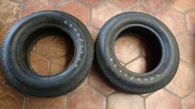 Sell NOS 2 Vintage Race car Goodyear Blue Streak Sport Tire date coded 7.00-14 Pair motorcycle in Hutchinson, Kansas, United States, for US $1,500.00