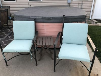 Heavy Metal Patio Chairs and Cushions