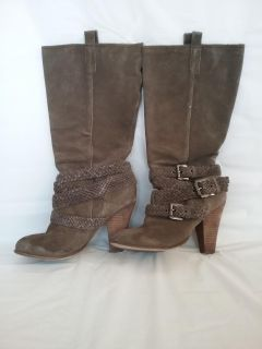 Leather/Suede Western Boots