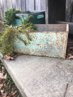Old metal container