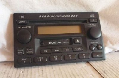 Sell 98-02 Honda Accord Odyssey 6 Cd Cassette Control Panel 1TA1 motorcycle in Williamson, Georgia, United States, for US $40.00