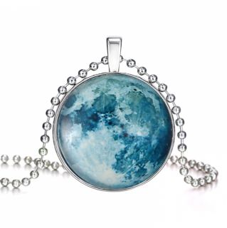 Glow In The Dark Magical Fairy Moon Charms Pendant Necklace