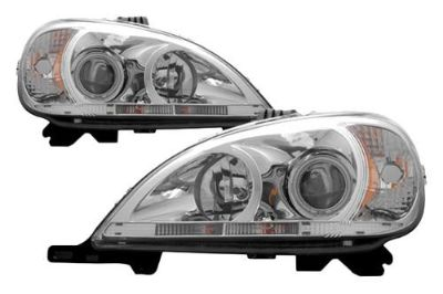Buy 02-05 Mercedes M Class Projector Headlights Halo CCFL Head SUV Lights Brand New motorcycle in Chino, California, US, for US $404.75