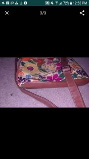 Fabulous Floral pare leather Crossbody
