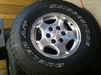 """$600 16"""" OEM GM Truck Wheels and Tires"""
