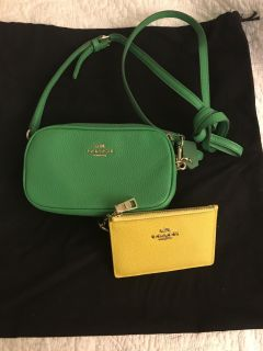 Coach crossbody and id wallet