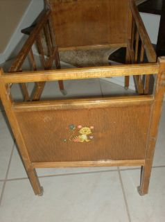 VINTAGE - Whitney Wood Doll Bed
