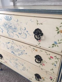 French Country Painted Chest