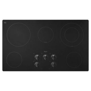 "Whirlpool 36"" Radiant Cooktop Black W5CE3625AB"