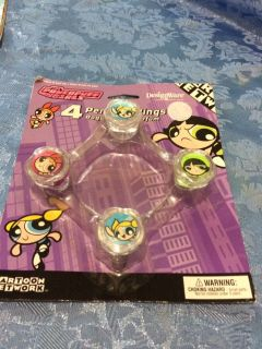 Powerpuff girls party favor rings dated 2001