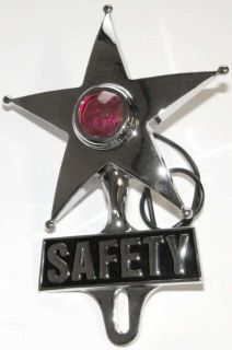 Find SAFETY STAR RED LIGHT LICENSE PLATE TOPPER CUSTOM HOT RAT ROD LOWRIDER VTG STYLE motorcycle in Sacramento, California, US, for US $49.98