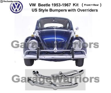 1955-67 VW Beetle Stainless Steel Bumper US Style