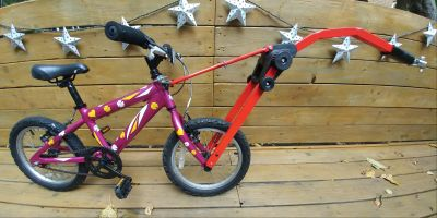 Trail Angel Bicycle Towbar Trailer and childs bike