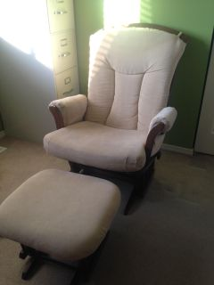 Glider chair with foot stool