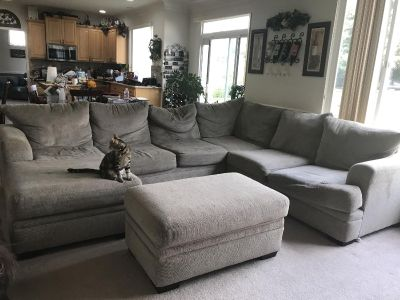 L shaped sectional with Ottoman