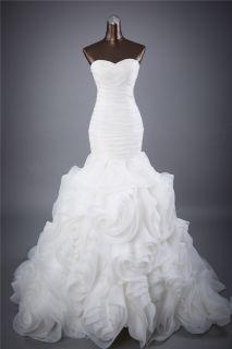 Eden's Mermaid Organza Ruffle Wedding Gown