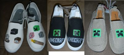 Custom Made Minecraft Shoes Adult & Children Sizes