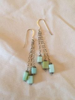 Handmade Sterling Silver and Stone Earring