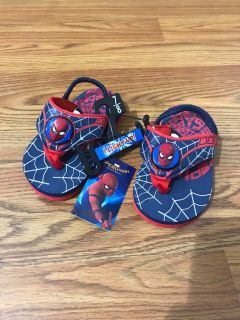 Spiderman Light-Up Sandals NWT (Toddler 7/