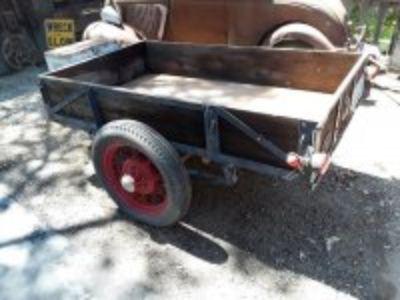 Vintage 4x8 box trailer