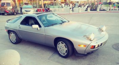 RARE 1986.5 Porsche 928S V8, Silver/Black AT. Excellent. Fast. Passed CA Smog