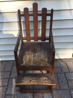 Old wood doll high chair