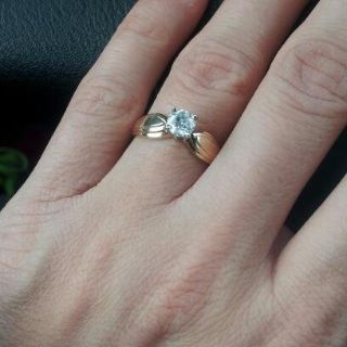 classic engagement or promise ring