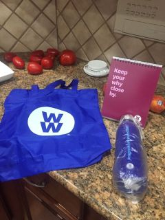 Free Unused Weight Watcher Tote, Water Bottle and inspirational quotes