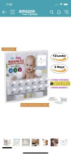 Baby & Child Proof Cabinet & Drawers Magnetic Safety Locks By Eco Baby Heavy Duty Locking System (12 pack)