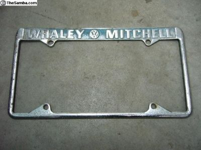 Whaley Mitchell, GA license plate frame