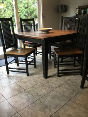 Solid Oak Mission Table & Chairs