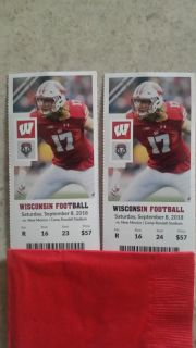 Two Badger foot ball tickets