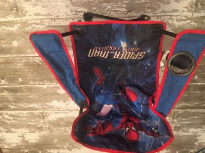 Ages 4+ Spider-Man folding chair with travel bag. Smoke free home. No holes.