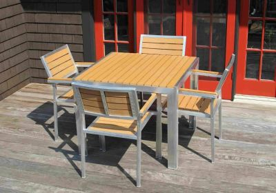 Aluminum Frame Outdoor Patio Dining Table