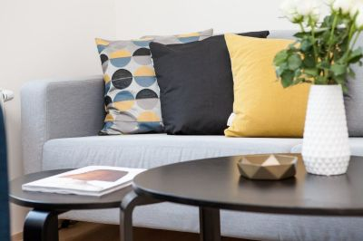 Order Stunning Poufs, Lamps & Throws From Michael's Furniture