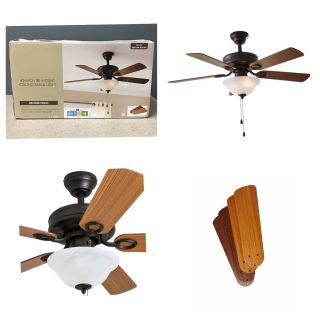 "42"" Chapter Ceiling Fan, Bowl Light, Bronze"