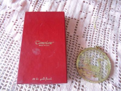"CAMERLANE Boxed Ornamnet! ""CANADA"" 24kt Gold Finish. In Orig Box"