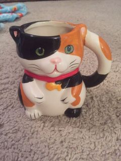 Pier 1 cat and mouse mug