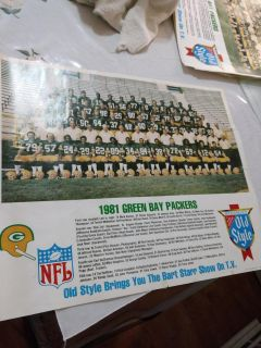 1981 Old Style packer poster