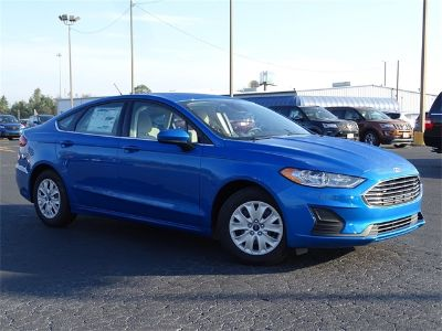 2019 Ford Fusion S (Blue)