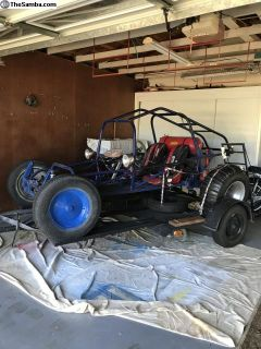 2 Seat buggy with trailer