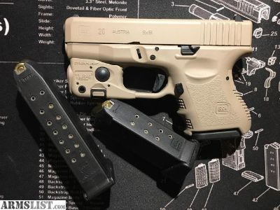 For Sale: Glock 26 G3 Coyote Brown